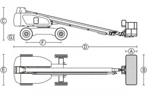 Подъемник телескопический Dalian GTBZ 36