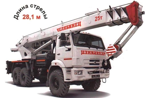 Вездеход шасси  Камаз-65115 да автокран КС-55732-25 «Челябинец»