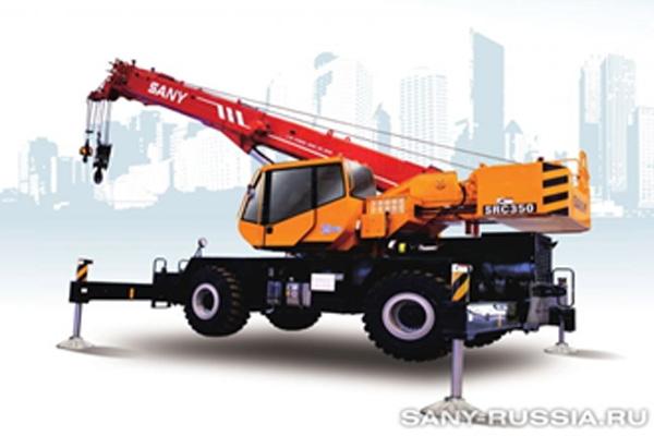 Ўзиюрар ғилдиракли кран SANY SRC350