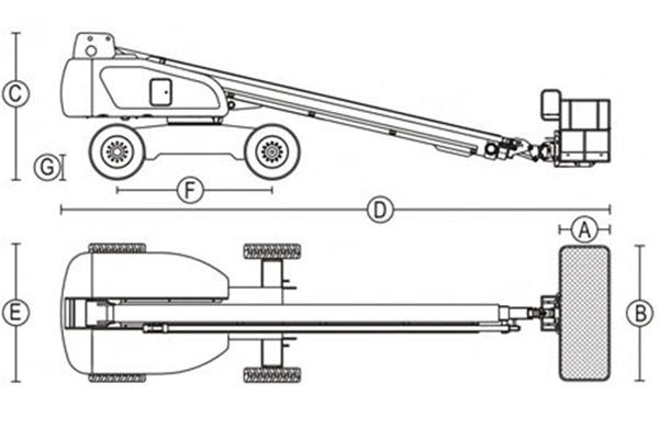 Телескопик кўтаргич -  Dalian GTBZ 36
