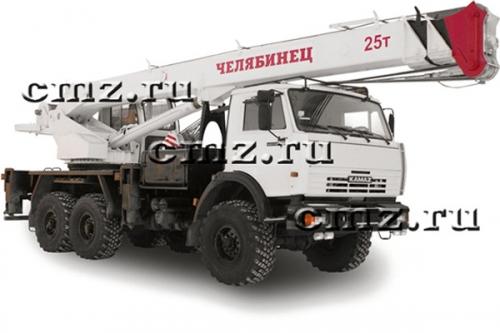 Вездеход шасси  Камаз-43118 да автокран КС-45721 «Челябинец»