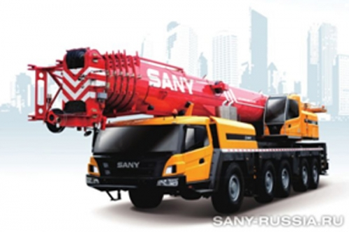 Ўзиюрар ғилдиракли кран SANY SAC6000