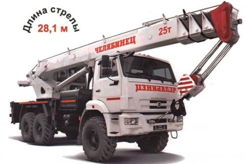 Вездеход шассе Камаз-43118 да автокран КС-55732-24 «Челябинец»