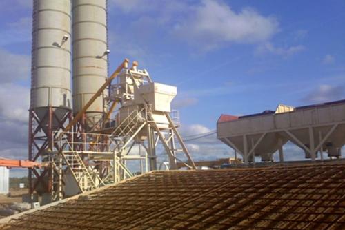 Бетон тайёрлайдиган завод HZS80