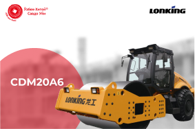 Одновальцовый грунтовый вибрационный каток Lonking CDM20A6