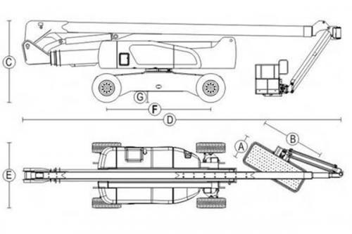 Подъемник коленчатый Dalian GTZZ-30Z