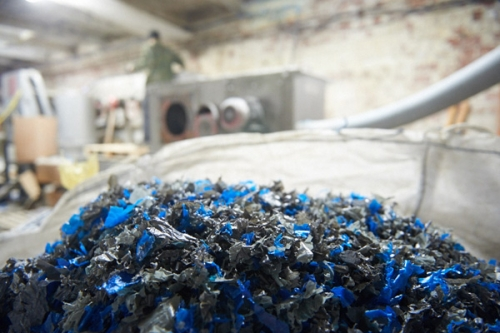 Гранулятор для переработки отходов полиэтиленовой пленки/пакетов
